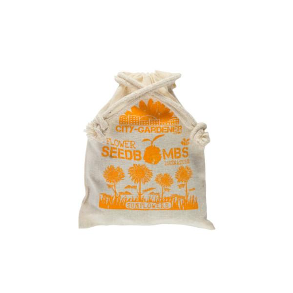Jutebeutel Samenbomben Sonnenblumen