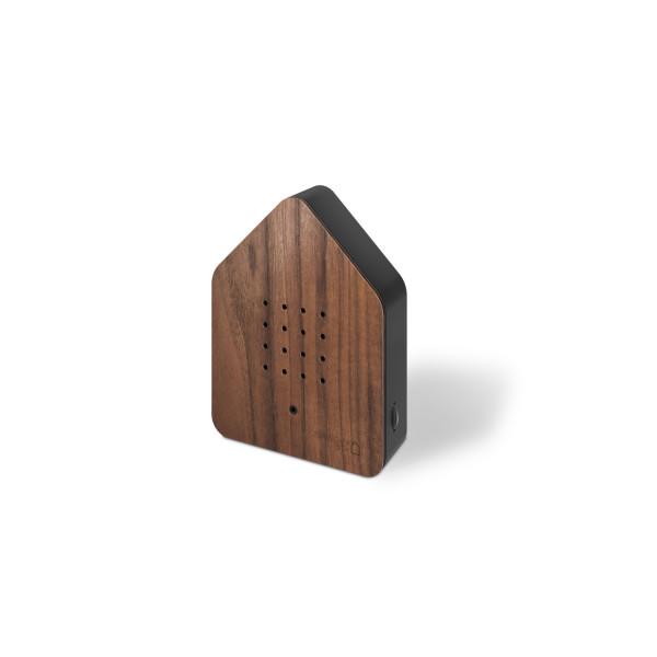 Zwitscherbox Nuss/schwarz